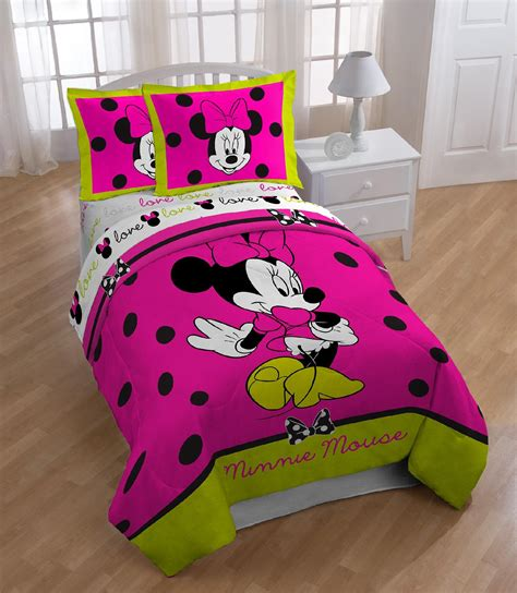 minnie mouse comforter set twin disney minnie neon twin full comforter home bed bath