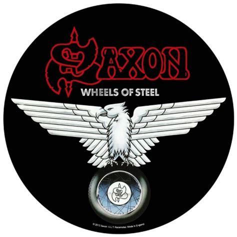 Kaos Fangkeh Saxon Wheels Of Steel saxon wheels of steel back patch