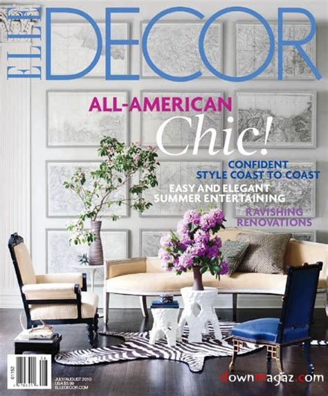 home interior decorating magazines elle decor july august 2010 187 download pdf magazines