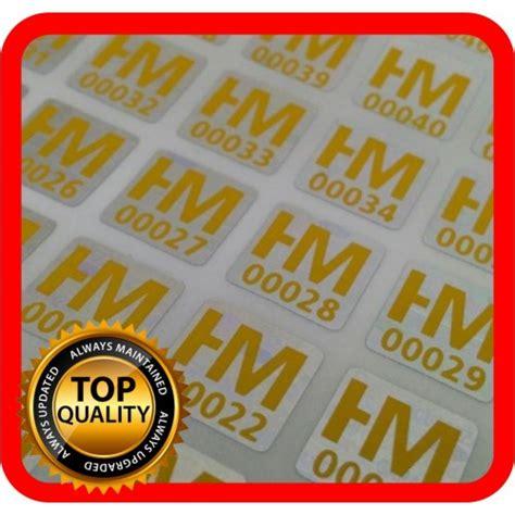 Hologramm Etiketten by Hologramm Etiketten Mit Ihrem Logo In Gelb 10x10mm