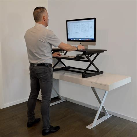 Work Up Desk Top Black Adjustable Sit To Stand Desk Xafd Best Sit To Stand Desk