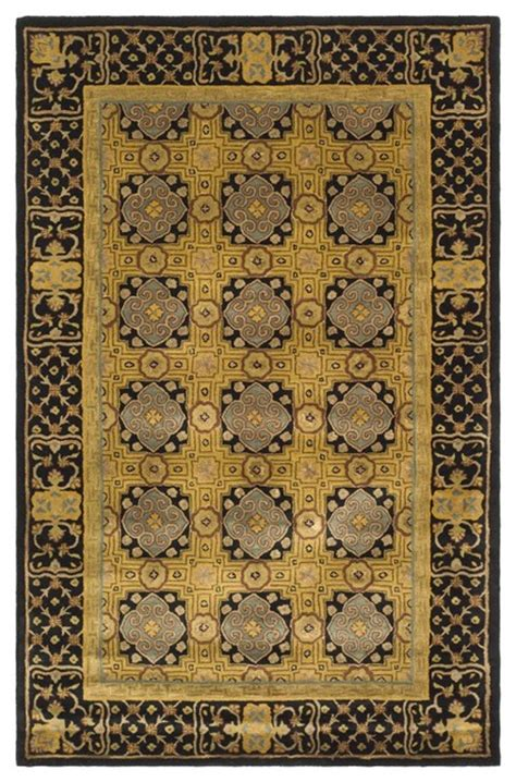yellow and black area rugs classic yellow black area rug cl301a 6 x 9 traditional rugs by zopalo