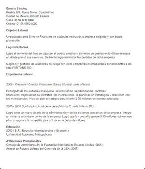 Modelo Cv Gerente Financiero Ejemplos De Curr 237 Culum De Gesti 243 N Financiera Y Contabilidad