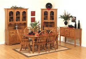 Amish Oak Dining Room Furniture 33 Brookside Dining Set In Oak Solid Wood Amish Furniture