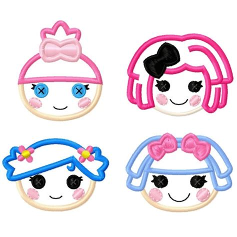 design a lalaloopsy doll lala doll mini applique set machine embroidery designs 2x2