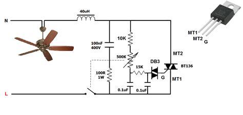 ceiling fan regulator circuit diagram www energywarden net