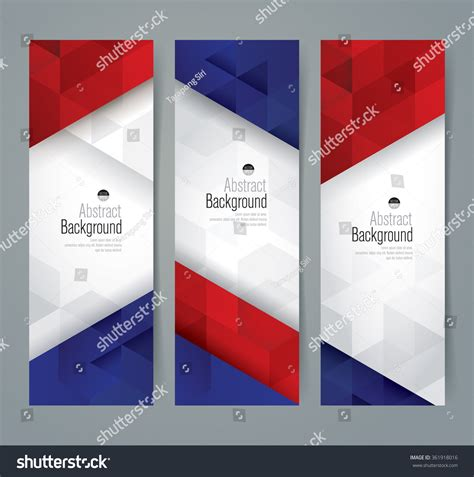 Collection Banner Design France Flag Colors Stock Vector With Banner Designs