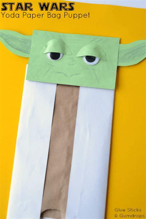 Paper Bag Puppet Craft - yoda paper bag puppet paper bag puppets wars