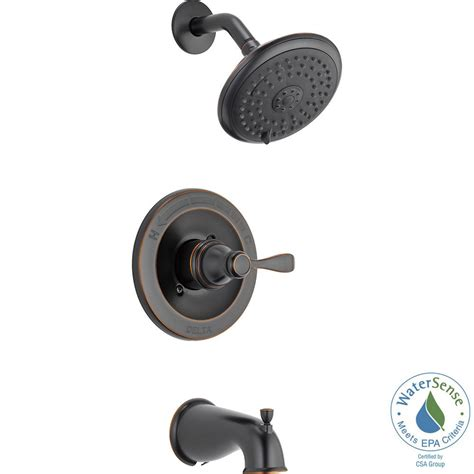 Delta Shower Faucets With Sprays by Delta Porter Single Handle 3 Spray Tub And Shower Faucet