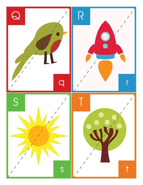 printable alphabet puzzle cards alphabet flashcards and puzzles