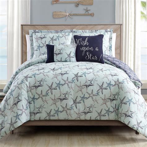 coastal starfish comforter set 5 piece christmas tree