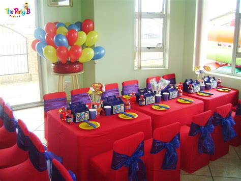 themed party equipment hire superman themed party cape town the party b kids party