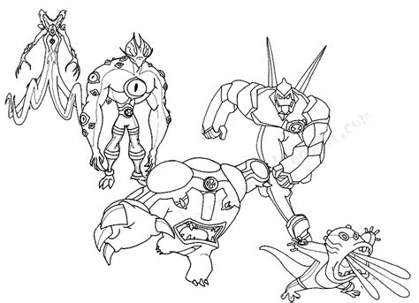Ben 10 Coloring Pages Ben 10 Coloring Pages Printable
