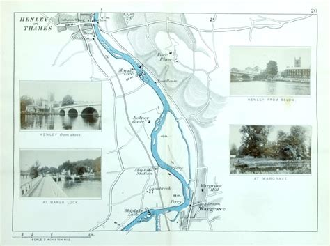 henley on thames river map antique river canal maps of uk general