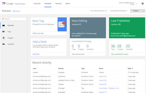 google layout manager getting started with google tag manager v2 koozai