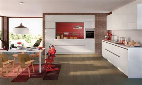 küche hochglanz wohnwand ideen grau