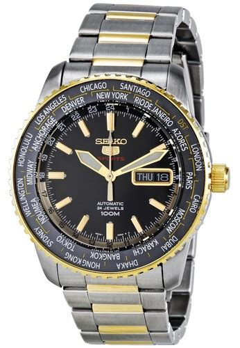 Jam Tangan Pria Seiko World Time seiko seiko 5 sports world time jam tangan pria silver