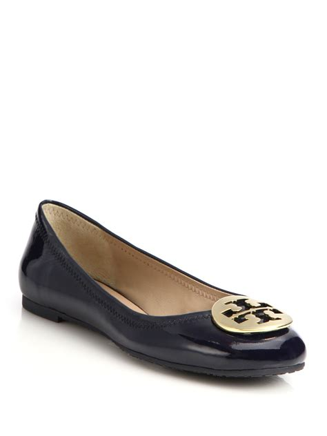 patent leather flats burch reva patent leather ballet flats in lyst