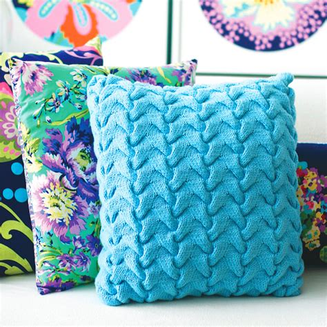 cable cushion cover knitting pattern update a sofa with a funky cable cushion knitting pattern