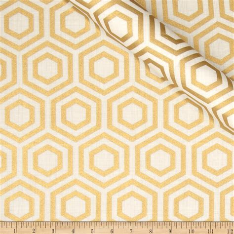 gold pattern material jackie heavy metal collection hexagon metallic gold