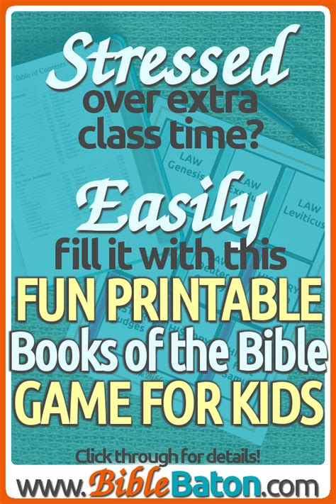 Books Of The Bible Printable Cards