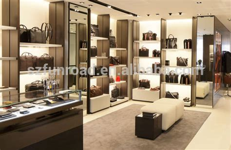 Design House Brand Door Hardware high quality modern leather bag showcase for bags shop