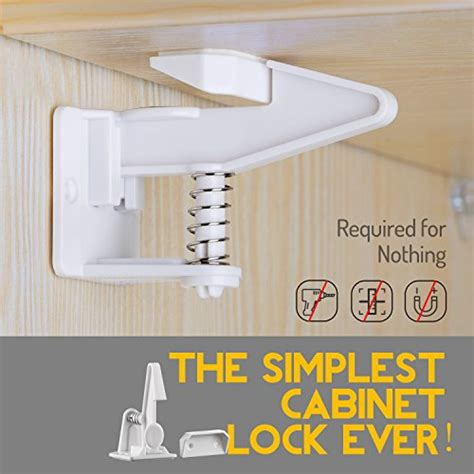 no drill safety latches for drawers cabinet locks child safety latches locks 10 packs easy