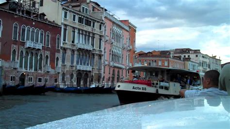venice motor boat motor boat ride through grand canal venice italy