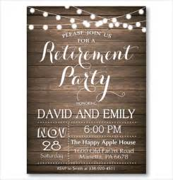 Retirement Template Free by Free Retirement Invitations Templates Printable
