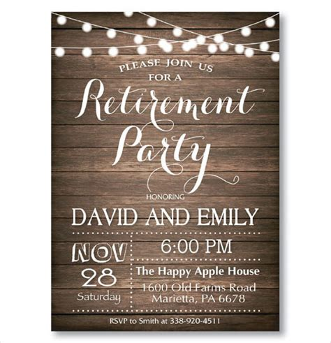 30 Retirement Party Invitation Design Templates Psd Ai Vector Eps Free Premium Templates Retirement Invitation Templates Free Printable