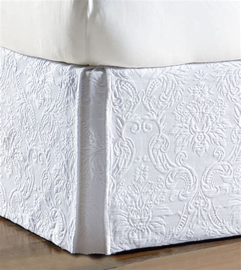 white bed skirts luxury bedding by eastern accents sandrine white bed skirt