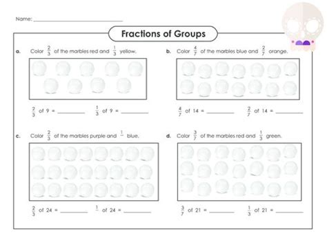 Worksheets Fractions Of Groups by Fractions Of Groups Worksheets Free Fractions Worksheets