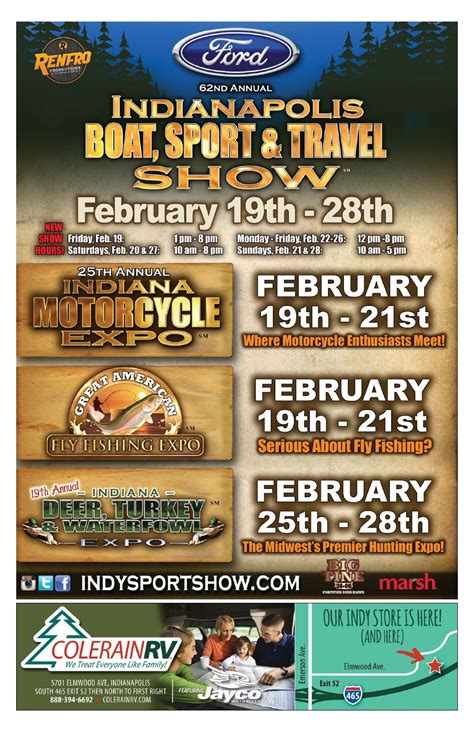 indianapolis boat show 2016 ford 62nd annual indianapolis boat sport travel show