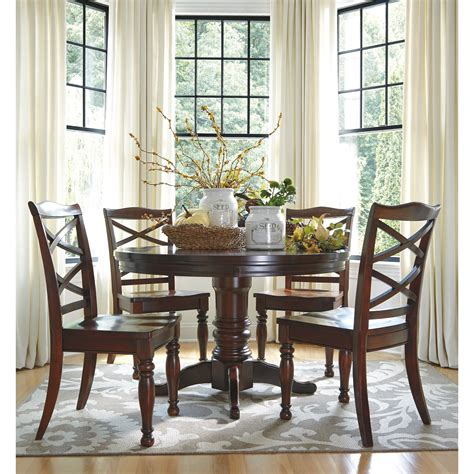 7 piece round dining table set ashley furniture porter 7 piece round dining table set