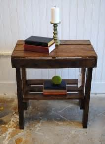 End Table Ideas by Appreciating Ideas For A Perfect Pallet End Table 101