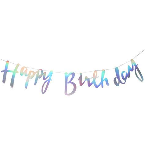 Ginger Ray Iridescent Party Happy Birthday Bunting 1.5M   Hobbycraft