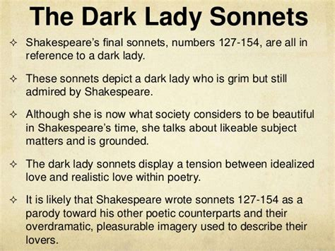 the sonnets and a shakespeare s sonnets