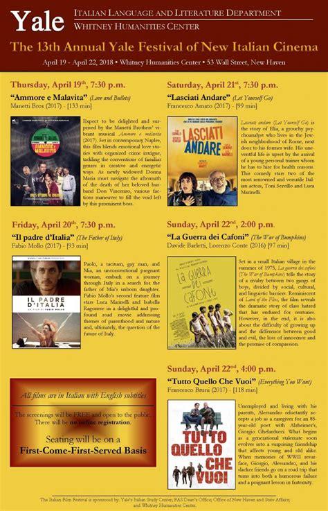 annual yale festival italian cinema film