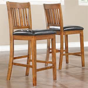 24 Inch Oak Bar Stools Tribecca Home Devlin Mission Style Oak 24 Inch Barstools