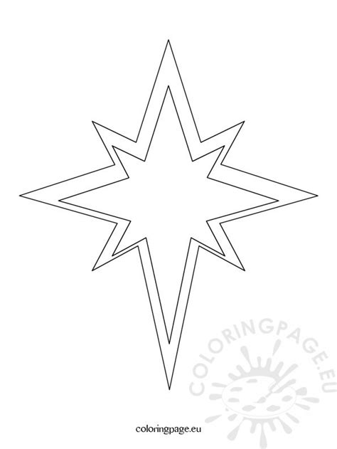 coloring page of a christmas star christmas star template coloring page