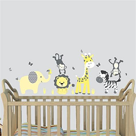 jungle stickers for nursery walls giraffe nursery decor