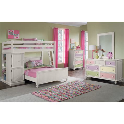 White Loft Bed by Colorworks White Ii Loft Bed Value City Furniture