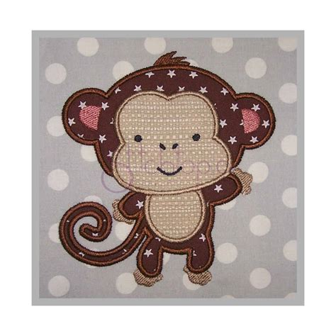 monkey applique baby animals monkey applique design stitchtopia