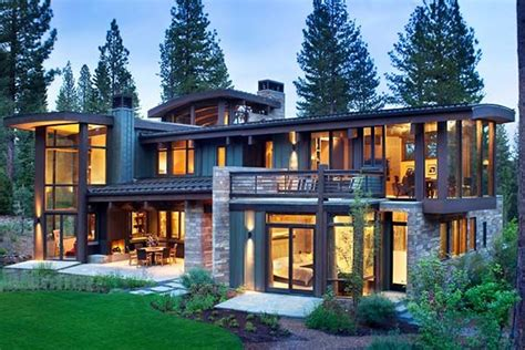 modern rustic homes modern rustic home nestled high in the sierra mountains