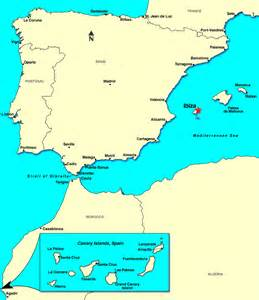 Ibiza Spain Map by Ibiza Spain Discount Cruises Last Minute Cruises