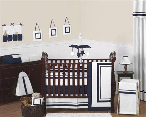 Contemporary White And Navy Modern Hotelgrey Baby Boy Girl Modern Neutral Crib Bedding