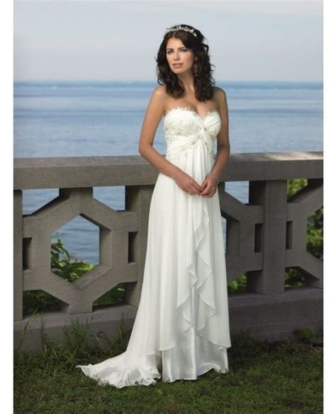 Destination Wedding Dresses by Destination Wedding Dress Sweetheart Sweep Chiffon