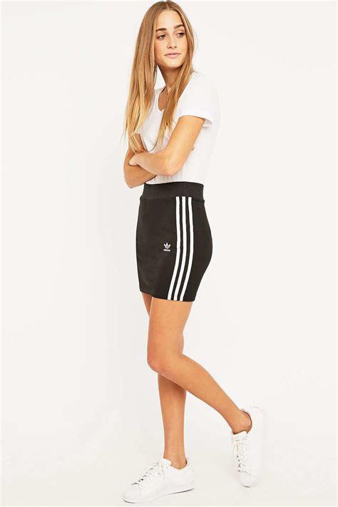 Ready Set Stripe Skirt adidas originals three stripe black mini skirt in black lyst