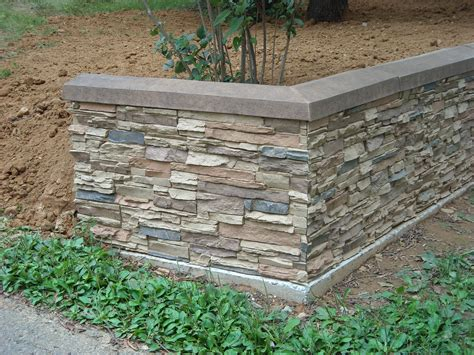 Garden Wall Panels Stacked Retaining Wall Creative Faux Panels