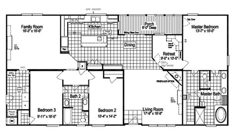 the pecan valley iii hi3268a manufactured home floor plan the pecan valley iii extra wide khv368h1 modular home